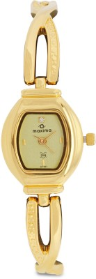 Maxima 07191BMLY Analog Gold Dial Women's Watch