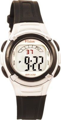 Vizion 8523-5BLACK Sports Series Digital Watch For Boys