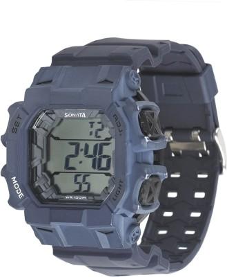 Sonata 77025PP03J Superfibre Ocean III Digital Watch