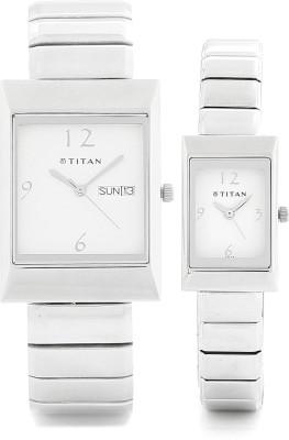 Titan 19572957SM01 Bandhan Analog Watch For Couple