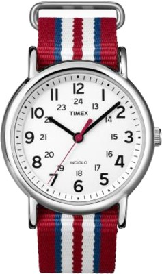 Timex T2N746NS Analog White Dial Unisex Watch (T2N746NS)