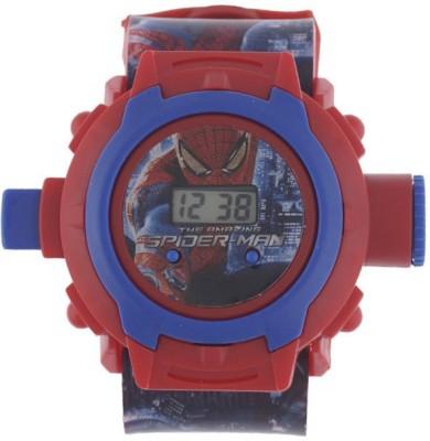 Navyamall Birthday GIFT SPIDER MAN 24 Photo PROJECTOR LED Sports Ghadi For Kids Digital Watch   For Boys Navyamall Wrist Watches