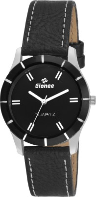 Gionee g020 Black Analog Round Dial with Leather Strap Casual Wrist Watch  - For Girls