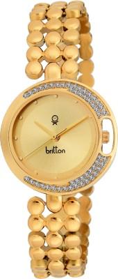 Britton BR-LR020-GLD-GLD  Analog Watch For Girls