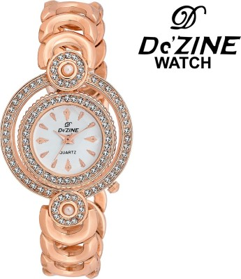 Dezine DZ-LR002-WHT-CPR  Analog Watch For Girls
