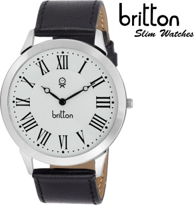 Britton BR-GR012-WHT-BLK  Analog Watch For Boys