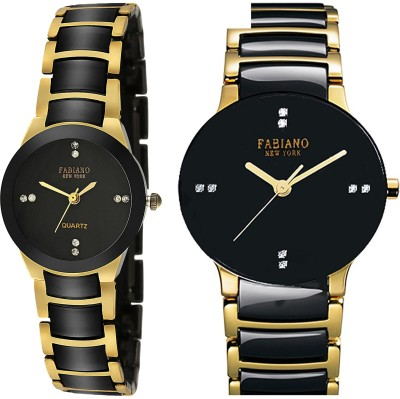 Fabiano New York FNY2030 Water Resistant Analog Watch For Couple