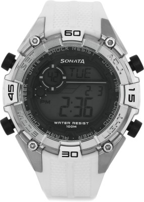 Sonata NG77026PP02J Superfibre Digital Watch  - For Men at flipkart