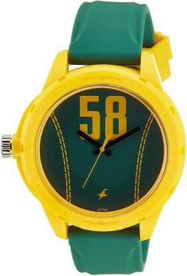 Fastrack 38019PP03CJ Tees Analog Green Dial Unisex Watch (38019PP03CJ)