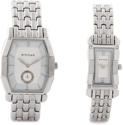 Titan N19662966SM01  Analog Watch For Couple