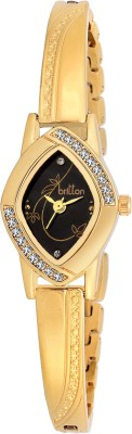 Britton BR-LR010-BLK-GLD  Analog Watch For Girls