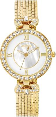 Aspen Aspen White Dial Ladies Watch  Ornate AP1839A Analog Watch   For Women Aspen Wrist Watches