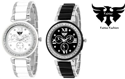 Fadiso Fashion FF-703BW-703SW-COMBO Dazzle Watch  - For Women