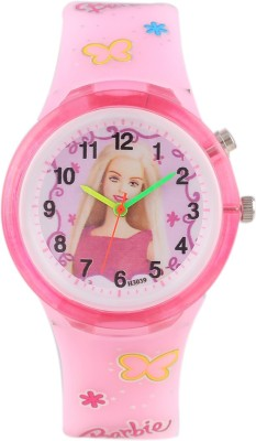 Devars H3039-LPK-BARBIE  Analog Watch For Kids