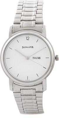 SONATA NC1013SM06 Classic Analog Watch   For Men SONATA Wrist Watches