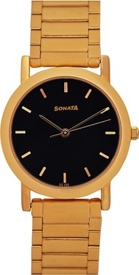 Sonata Glod Plated Analog Men's Watch, GH54