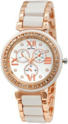 GT Gala Time Chronograph Dial Diamond Studded Watch  - For Women
