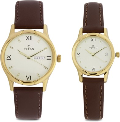 Titan 15802490YL05  Analog Watch For Couple