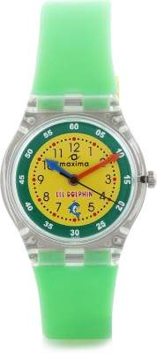 Maxima 04425PPKW Fiber Analog Watch For Kids
