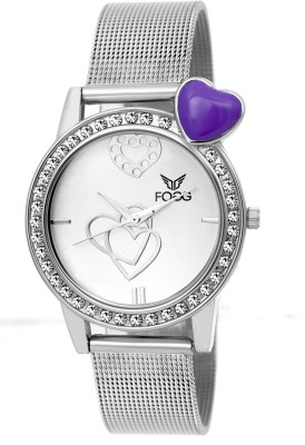 Fogg 4039-WH-CK Modish Analog Watch For Women