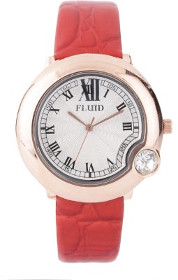 Fluid Fl403-Rd01crystal Diamond Collection Watch  - For Women at flipkart