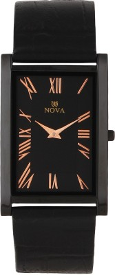 Nova FG-SLIM-CPR-BLK-32 Rectangular Watch  - For Men