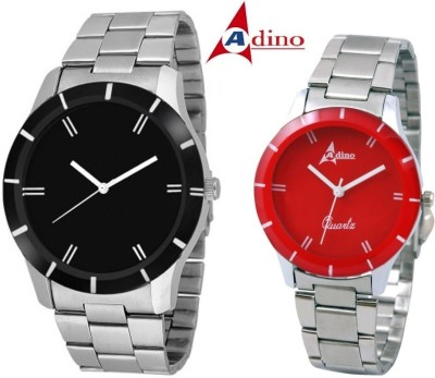 Adino AD8495 Casino Fox Valentine Analog Watch For Couple