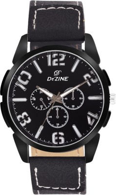 Dezine Black Elite Collection Analog Watch   For Men Dezine Wrist Watches