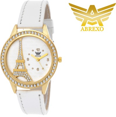 Abrexo ABX-40007-GOLDWHT  Analog Watch For Girls