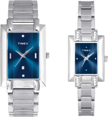 Timex TI00PR19100 Classic Analog Watch For Couple