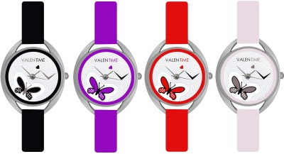 Valentime Branded New Latest Designer Deal Colorfull Stylish Girl Ladies9 22 Feb LOVE Couple Watch  - For Girls