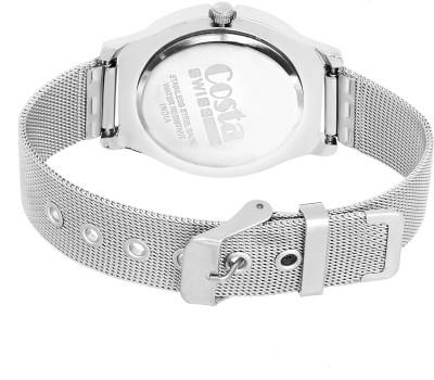 Costa Swiss CS-9003 Diva White Analog Watch  - For Women