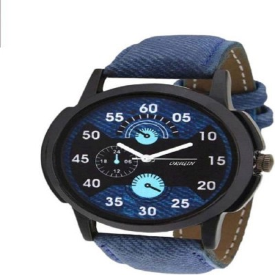 keepkart 001 Leather Strap Cronograph Pattern Analouge Watch For Boys And Girls Watch  - For Men & Women