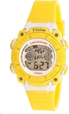 Vizion V8017B-5YELLOW Sports Series Digital Watch For Boys
