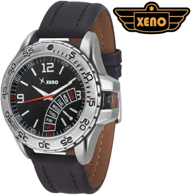Xeno BN_C10D28_OLD Date Day Chronograph Pattern Black Leather Black Dial New Look Fashion Stylish Modish Analog Watch   For Boys