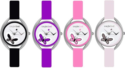 Valentime Branded New Latest Designer Deal Colorfull Stylish Girl Ladies7 20 Feb LOVE Couple Watch  - For Girls