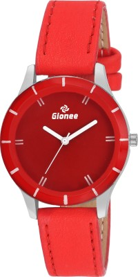 Gionee g019 Analog Casual Round Dial Wrist Watch with Red Strap Watch  - For Women