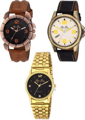 Pappi Boss Party Wear Pack of 3 Designer Casual Watch  - For Men