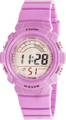 Vizion 8533027-8PURPLE Cold Light Digital Watch For Boys