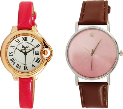 Style Feathers SFCTRDPINK&SDBWN-001 Watch  - For Women