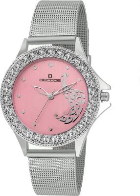 Decode Ladies Gem Studded LR020 Pink Pink Analog Watch   For Women Decode Wrist Watches