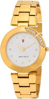 Swiss Trend ST2202 Golden Divine Analog Watch For Women