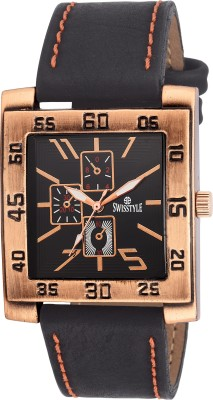 Swisstyle SS-GSQ90-BLK-BLK  Analog Watch For Boys