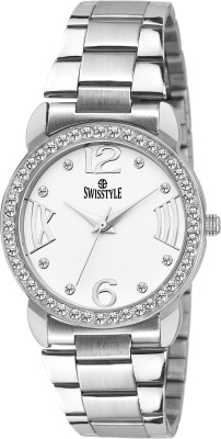 Swisstyle SS-LR098-WHT-CH  Analog Watch For Girls