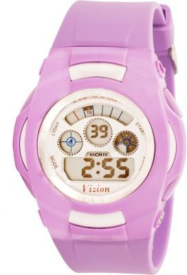 Vizion 8522B-8PURPLE Cold Light Digital Watch For Boys