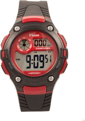 Vizion V8543091-9BLACK Sports Series Digital Watch For Boys