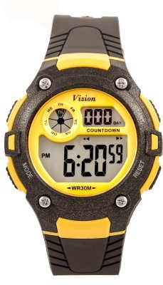 Vizion V8543091-5BLACK Sports Series Digital Watch For Boys