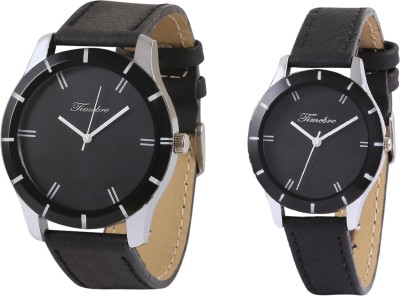 Timebre CPLCOM98 Ebony Analog Watch For Couple