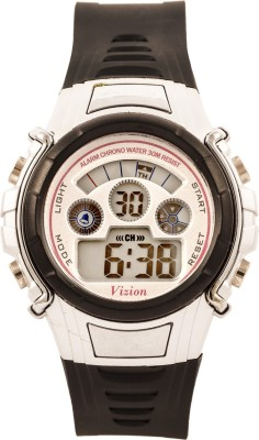 Vizion 8515B-5BLACK Cold Light Digital Watch For Boys