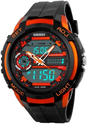 Skmei GMARKS-2021-ORANGE Sports Analog-Digital Watch For Unisex